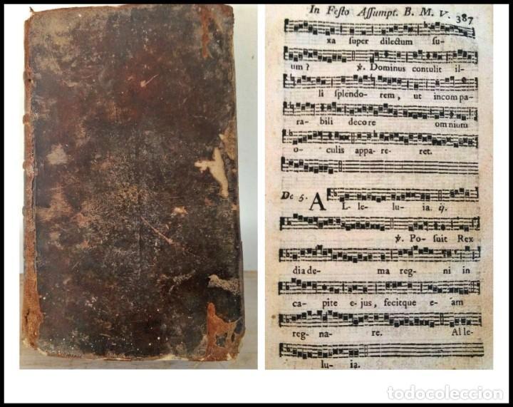 AÑO 1779. GRADUALE BISUNTINUM. LIBRO DEL SIGLO XVIII CON 700 PÁGINAS DE PARTITURAS. (Libros Antiguos, Raros y Curiosos - Bellas artes, ocio y coleccion - Música)