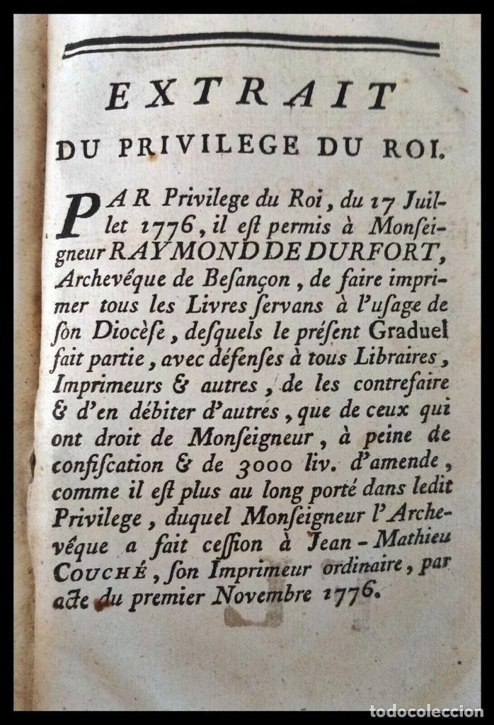 Libros antiguos: Año 1779. Graduale Bisuntinum. Libro del siglo XVIII con 700 páginas de partituras. - Foto 2 - 218441263