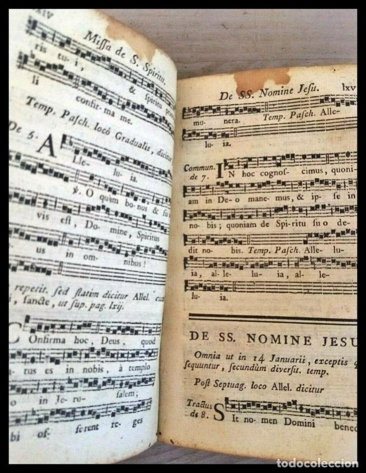 Libros antiguos: Año 1779. Graduale Bisuntinum. Libro del siglo XVIII con 700 páginas de partituras. - Foto 4 - 218441263