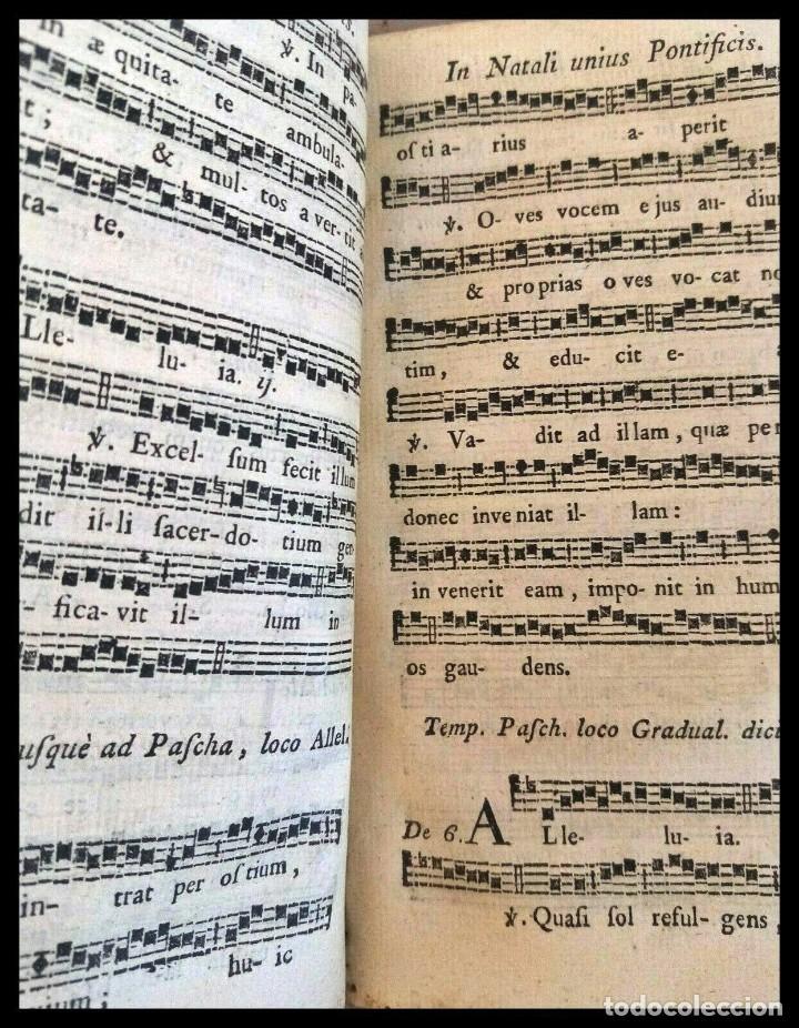 Libros antiguos: Año 1779. Graduale Bisuntinum. Libro del siglo XVIII con 700 páginas de partituras. - Foto 5 - 218441263