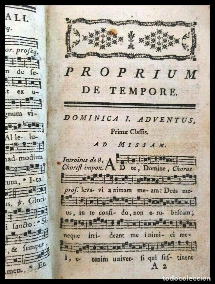 Libros antiguos: Año 1779. Graduale Bisuntinum. Libro del siglo XVIII con 700 páginas de partituras. - Foto 6 - 218441263