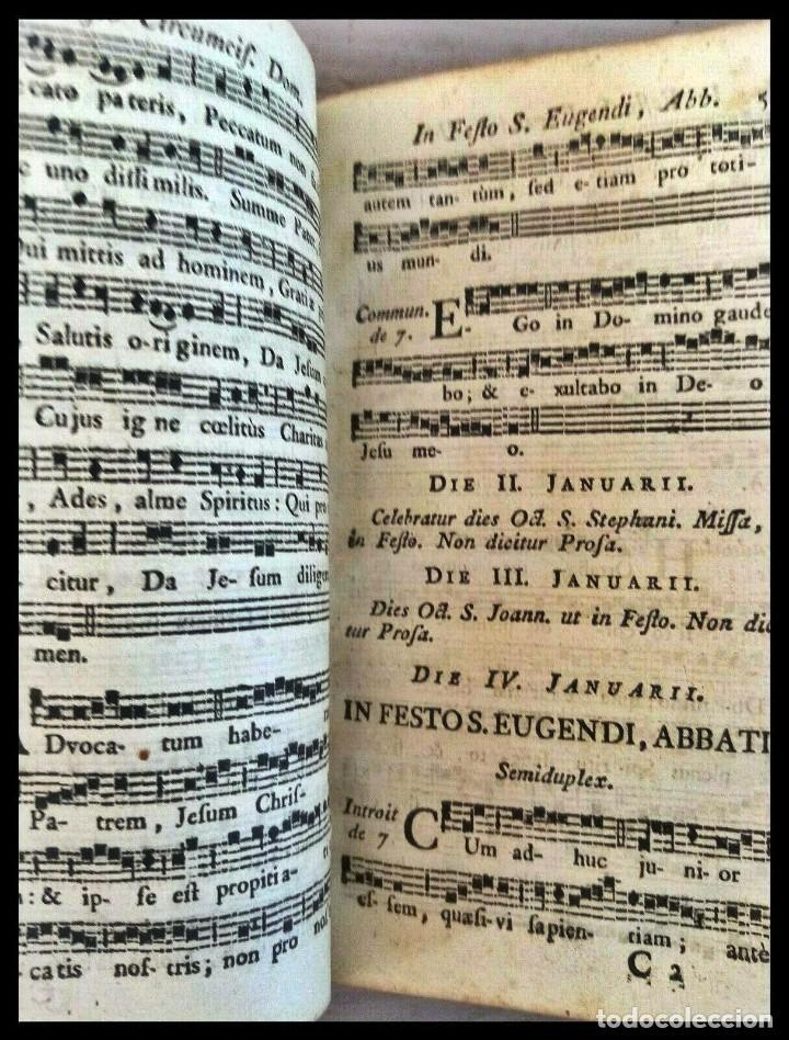 Libros antiguos: Año 1779. Graduale Bisuntinum. Libro del siglo XVIII con 700 páginas de partituras. - Foto 9 - 218441263