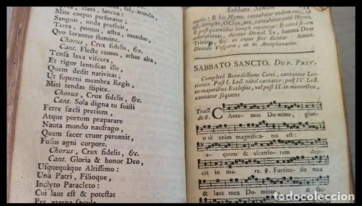 Libros antiguos: Año 1779. Graduale Bisuntinum. Libro del siglo XVIII con 700 páginas de partituras. - Foto 10 - 218441263