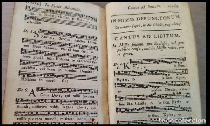 Libros antiguos: Año 1779. Graduale Bisuntinum. Libro del siglo XVIII con 700 páginas de partituras. - Foto 11 - 218441263