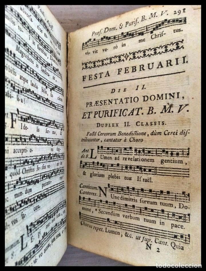 Libros antiguos: Año 1779. Graduale Bisuntinum. Libro del siglo XVIII con 700 páginas de partituras. - Foto 12 - 218441263