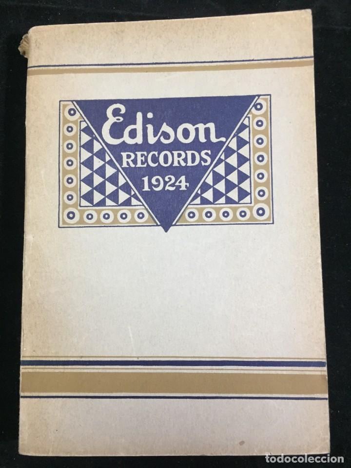 EDISON RECORDS 1924 CATÁLOGO FONÓGRAFO DE MANIVELA ART DECO. MUY RARO (Libros Antiguos, Raros y Curiosos - Bellas artes, ocio y coleccion - Música)