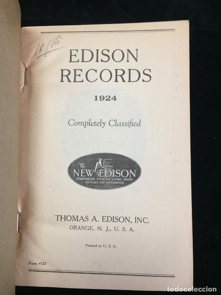Libros antiguos: EDISON RECORDS 1924 CATÁLOGO FONÓGRAFO DE MANIVELA ART DECO. Muy Raro - Foto 3 - 220967281