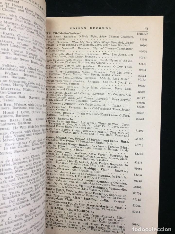 Libros antiguos: EDISON RECORDS 1924 CATÁLOGO FONÓGRAFO DE MANIVELA ART DECO. Muy Raro - Foto 4 - 220967281