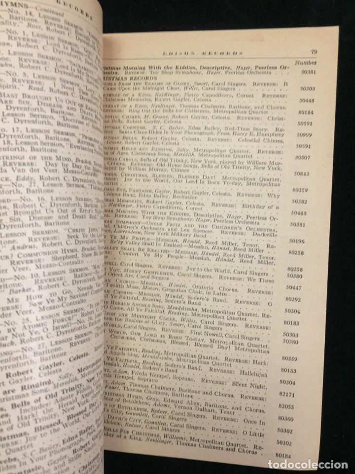Libros antiguos: EDISON RECORDS 1924 CATÁLOGO FONÓGRAFO DE MANIVELA ART DECO. Muy Raro - Foto 5 - 220967281