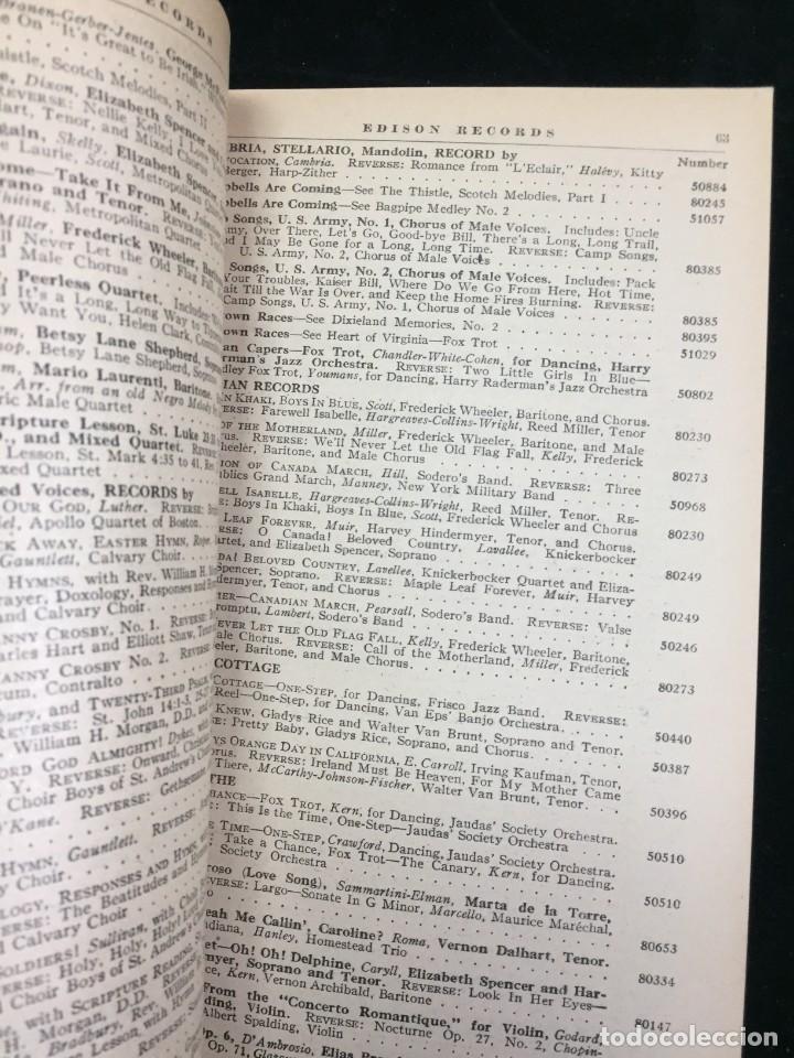 Libros antiguos: EDISON RECORDS 1924 CATÁLOGO FONÓGRAFO DE MANIVELA ART DECO. Muy Raro - Foto 6 - 220967281