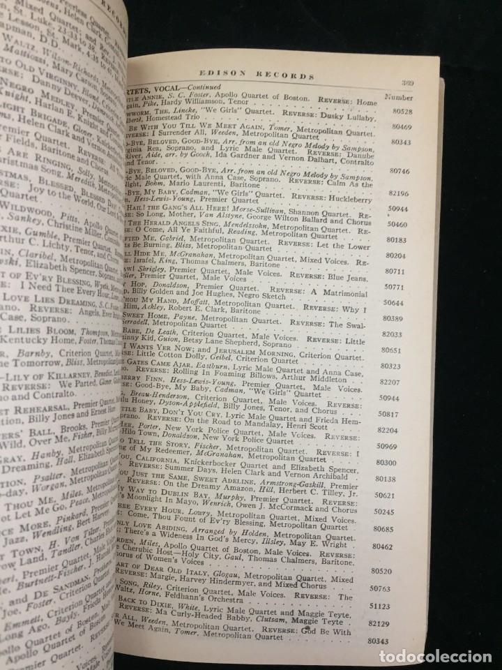 Libros antiguos: EDISON RECORDS 1924 CATÁLOGO FONÓGRAFO DE MANIVELA ART DECO. Muy Raro - Foto 8 - 220967281