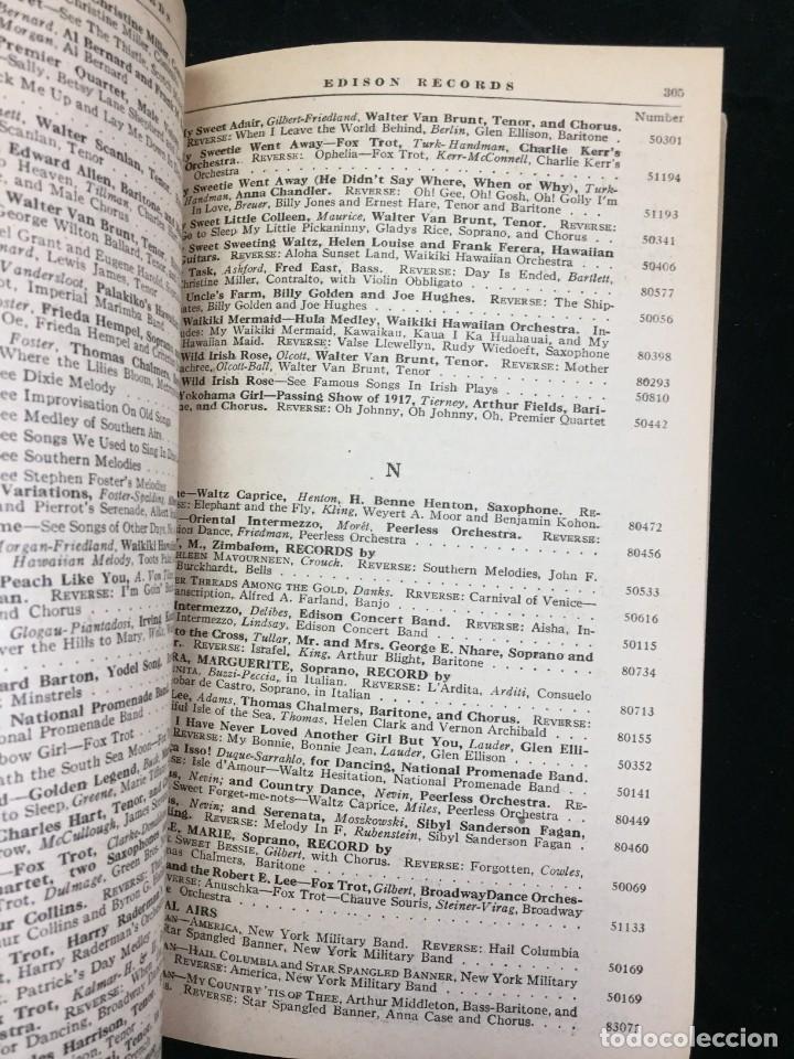 Libros antiguos: EDISON RECORDS 1924 CATÁLOGO FONÓGRAFO DE MANIVELA ART DECO. Muy Raro - Foto 10 - 220967281