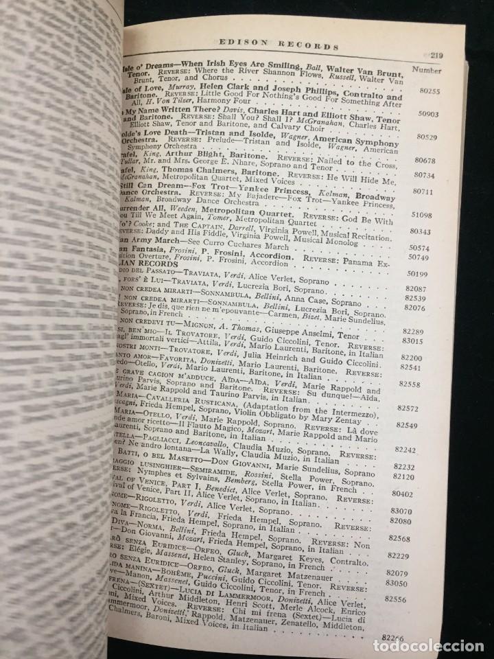 Libros antiguos: EDISON RECORDS 1924 CATÁLOGO FONÓGRAFO DE MANIVELA ART DECO. Muy Raro - Foto 11 - 220967281