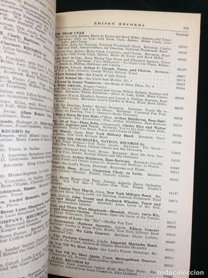 Libros antiguos: EDISON RECORDS 1924 CATÁLOGO FONÓGRAFO DE MANIVELA ART DECO. Muy Raro - Foto 13 - 220967281