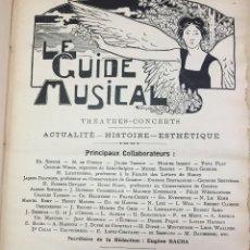 Libros antiguos: LE GUIDE MUSICAL, 1903, VOL. 49: THÉÂTRES, CONCERTS; ACTUALITÉ, HISTOIRE, ESTHÉTIQUE. ANNÉE 1903.. Lote 221337331
