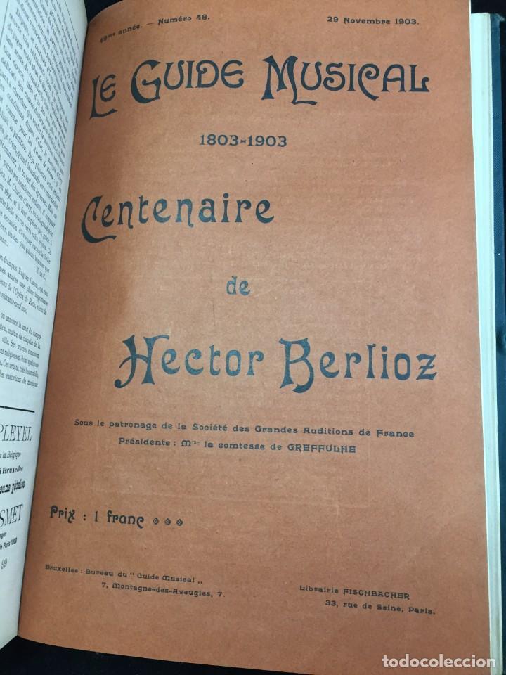 Libros antiguos: Le Guide Musical, 1903, Vol. 49: Théâtres, Concerts; Actualité, Histoire, Esthétique. Année 1903. - Foto 2 - 221337331