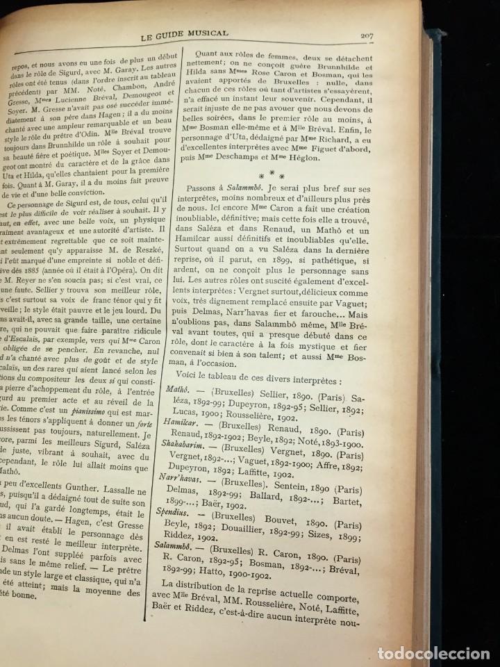 Libros antiguos: Le Guide Musical, 1903, Vol. 49: Théâtres, Concerts; Actualité, Histoire, Esthétique. Année 1903. - Foto 4 - 221337331