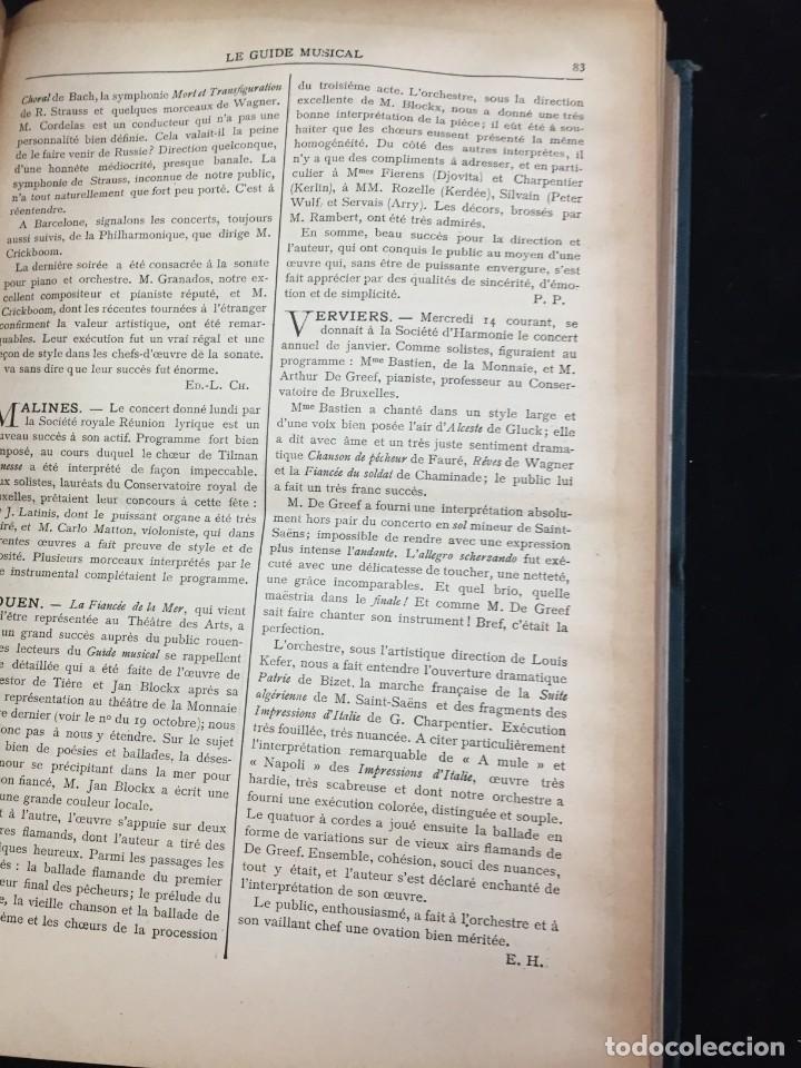 Libros antiguos: Le Guide Musical, 1903, Vol. 49: Théâtres, Concerts; Actualité, Histoire, Esthétique. Année 1903. - Foto 5 - 221337331
