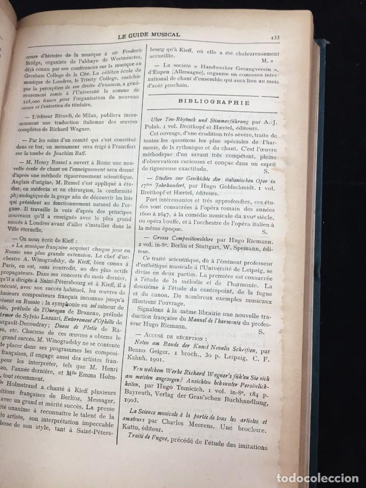 Libros antiguos: Le Guide Musical, 1903, Vol. 49: Théâtres, Concerts; Actualité, Histoire, Esthétique. Année 1903. - Foto 6 - 221337331