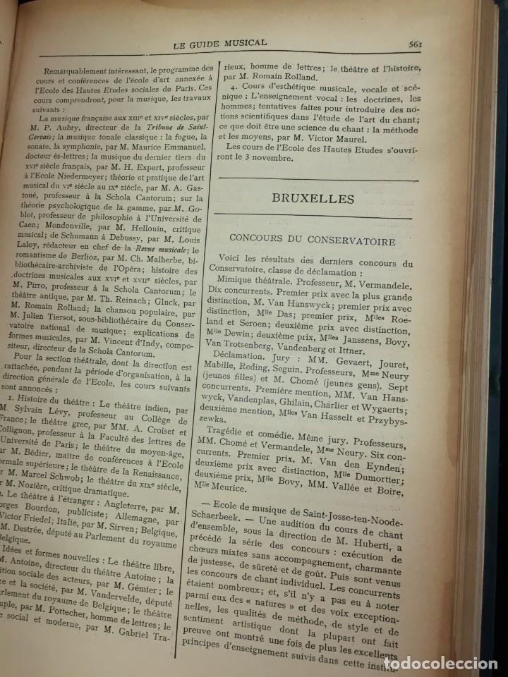 Libros antiguos: Le Guide Musical, 1903, Vol. 49: Théâtres, Concerts; Actualité, Histoire, Esthétique. Année 1903. - Foto 7 - 221337331