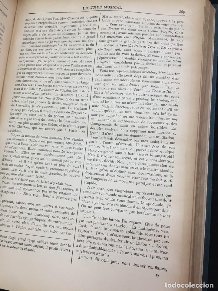 Libros antiguos: Le Guide Musical, 1903, Vol. 49: Théâtres, Concerts; Actualité, Histoire, Esthétique. Année 1903. - Foto 10 - 221337331
