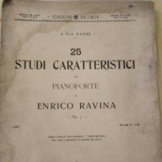 Libros antiguos: PIANOFORTE, STUDI CARACTERÍSTICO, 1912. Lote 221442067