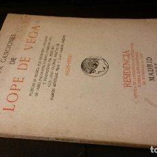 Libros antiguos: 1935 - TREINTA CANCIONES DE LOPE DE VEGA PUESTAS EN MÚSICA POR GUERRERO, ORLANDO DE LASSO, ETC. Lote 221500782