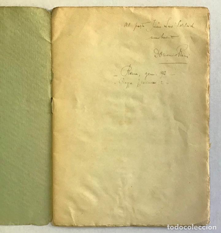 Libros antiguos: EPIGRAMMI E SONETTI. - RICCI, Domenico. PRIMERA EDICIÓN - DEDICADO - Foto 2 - 123237139