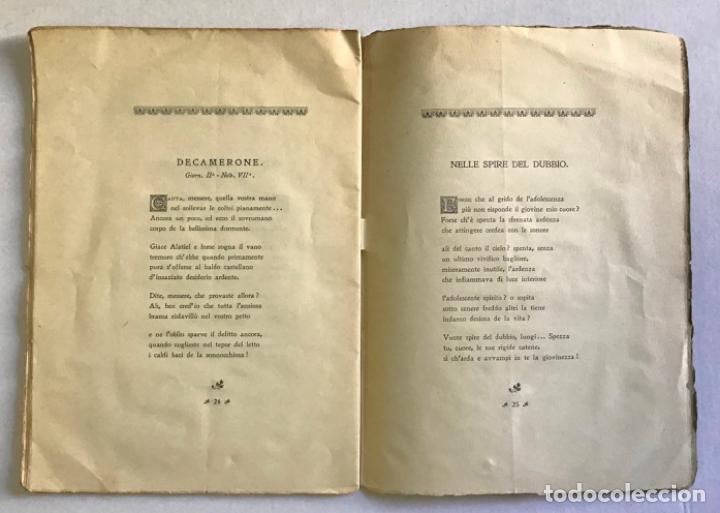 Libros antiguos: EPIGRAMMI E SONETTI. - RICCI, Domenico. PRIMERA EDICIÓN - DEDICADO - Foto 6 - 123237139