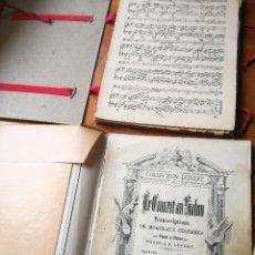 Libros antiguos: ANTIGUA CARPETA CON VARIOS ALBUMES DE PARTITURAS MUSICA CLASICA ANTIGUOS DEL SIGLO XIX VER FOTOS. Lote 223643741