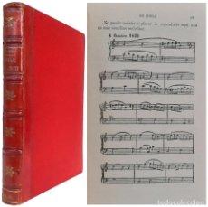 Libros antiguos: 1917 - MÚSICA - CÉSAR FRANCK - VIDA Y OBRA - PARTITURAS MUSICALES - MÚSICA CLÁSICA - ENCUADERNACIÓN. Lote 226784035