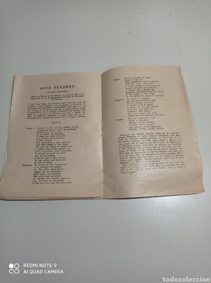 Libros antiguos: Librillo de cantables de la Zarzuela El sol de Sevilla. pone 1872. Ramón peña y Federico Caballé. - Foto 3 - 229242700