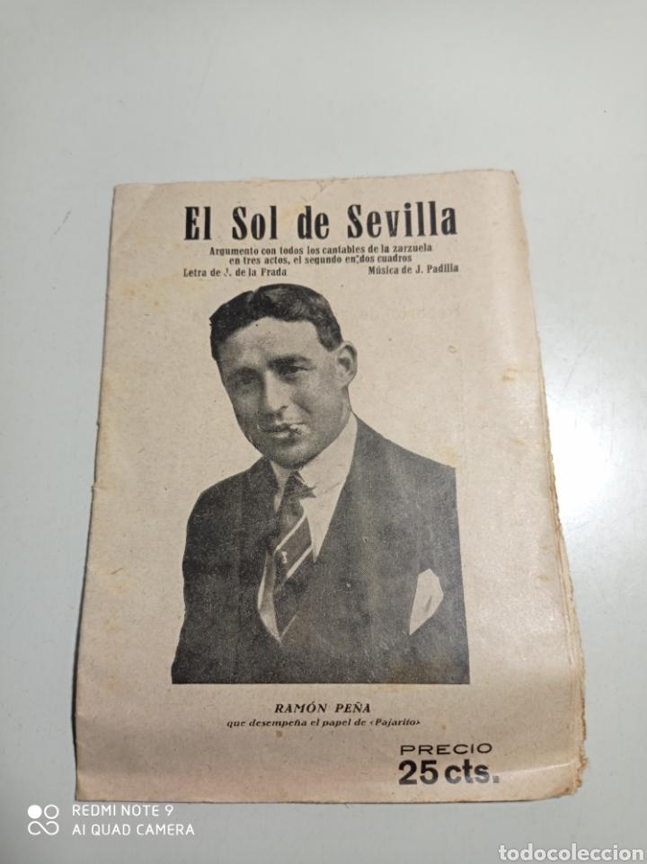 LIBRILLO DE CANTABLES DE LA ZARZUELA EL SOL DE SEVILLA. PONE 1872. RAMÓN PEÑA Y FEDERICO CABALLÉ. (Libros Antiguos, Raros y Curiosos - Bellas artes, ocio y coleccion - Música)