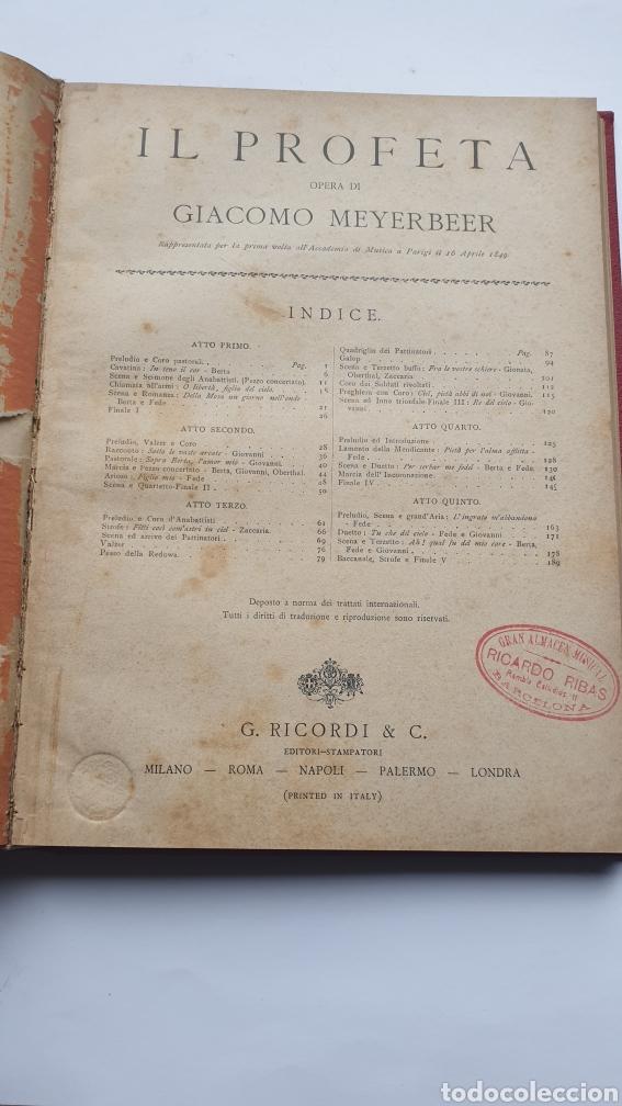 Libros antiguos: 2 Óperas de Giacomo Meyerbeer DINORAH Y IL PROFETA - Foto 5 - 230859970
