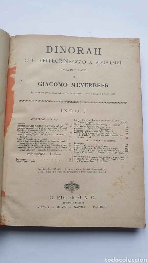 Libros antiguos: 2 Óperas de Giacomo Meyerbeer DINORAH Y IL PROFETA - Foto 2 - 230859970