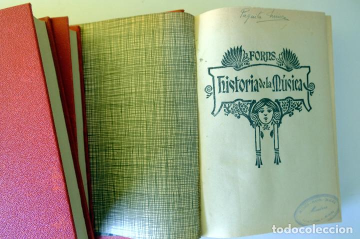 Libros antiguos: Historia de la música. Forns. 3 volúmenes - Foto 3 - 231588725