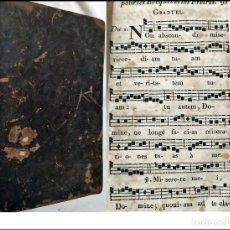 Libros antiguos: AÑO 1822: OFICIO DE MUERTOS. CASI TODAS SUS PÁGINAS SON PARTITURAS. LIBRO DEL SIGLO XIX.. Lote 234047855