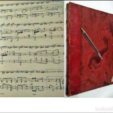Libros antiguos: ELEGANTE LIBRO DE PARTITURAS. MUY ANTIGUO. SIGLO XIX?. Lote 234454965