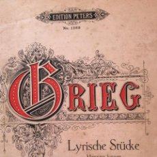 Libros antiguos: LYRISCHE STÜCKE, MORCEAUX LYRIQUES, HEFT 1 OPUS 12 EDITION PETERS NO. 1269. AÑO. Lote 235645175