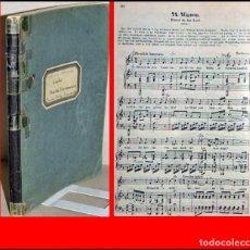 Libros antiguos: ANTIGUO LIBRO DE PARTITURAS CON 100 CANCIONES MÁS POPULARES DE BEETHOVEN, MOZART.... Lote 235999425