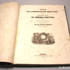 Livres anciens: CURSO DE COMPOSICIÓN MUSICAL - 1845 - ANTONIO REICHA - VER DESCRIPCIÓN Y FOTOS.. Lote 244184065