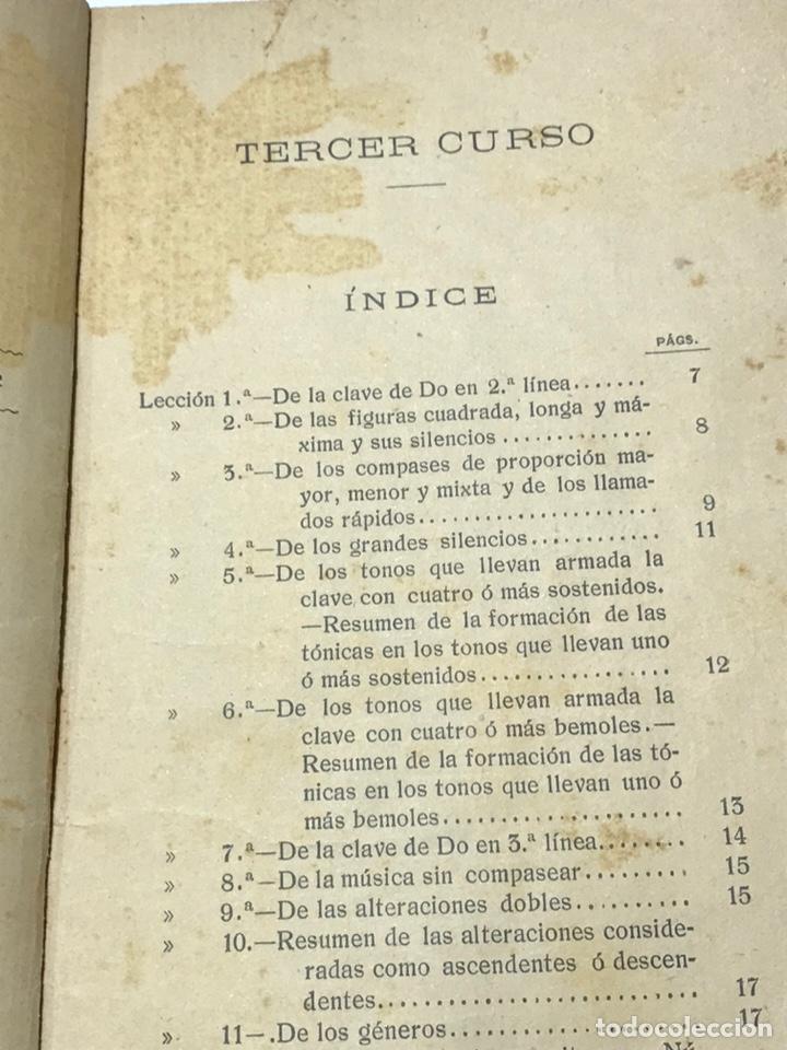 Libros antiguos: Nociones técnicas de solfeo Amancio Amoros 1ª Esicion 1909 - Foto 2 - 245483775