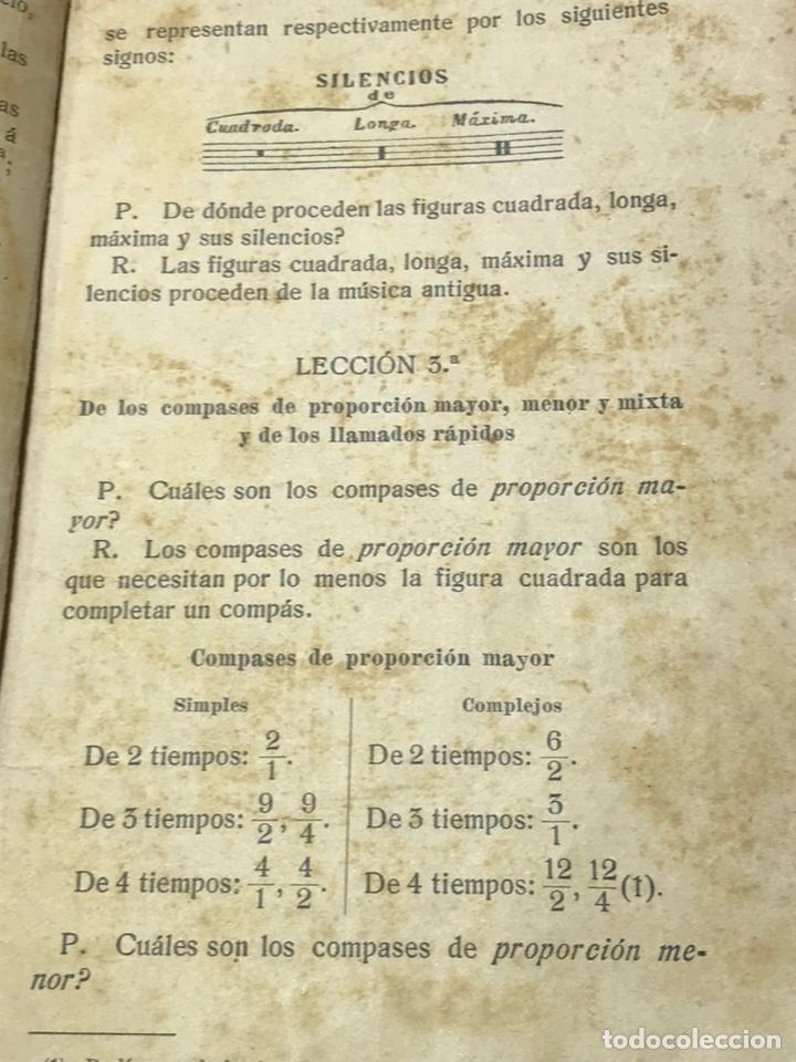 Libros antiguos: Nociones técnicas de solfeo Amancio Amoros 1ª Esicion 1909 - Foto 4 - 245483775
