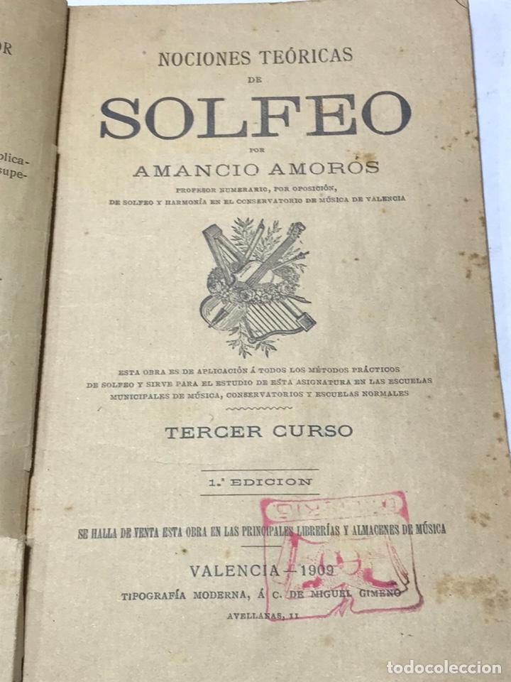 NOCIONES TÉCNICAS DE SOLFEO AMANCIO AMOROS 1ª ESICION 1909 (Libros Antiguos, Raros y Curiosos - Bellas artes, ocio y coleccion - Música)