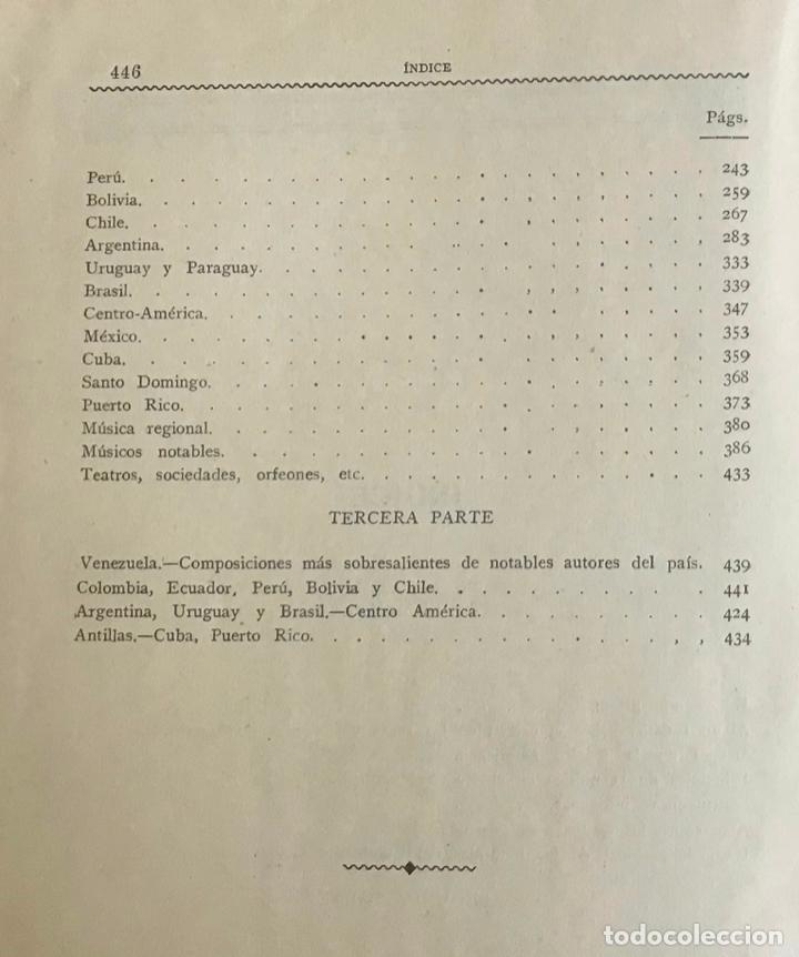 Libros antiguos: LA MÚSICA POPULAR Y LOS MÚSICOS CÉLEBRES DE LA AMÉRICA LATINA. - CORTIJO A., L. - Foto 6 - 268298479