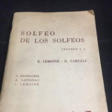 Libros antiguos: SOLFEO DE LOS SOLFEOS. 1A E LEMOINE, G CARULLI. RICORDI 1968. PARTITURAS. Lote 251032790