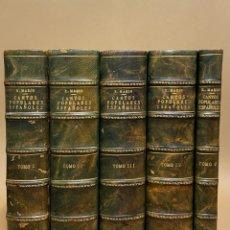 Libros antiguos: CANTOS POPULARES ESPAÑOLES. ED. RODRIGUEZ MARIN SEGUNDA EDICIÓN. Lote 71293235