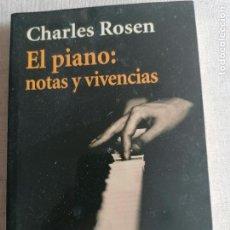Libros antiguos: EL PIANO: NOTAS Y VIVENCIAS. CHARLES ROSEN. ALIANZA ED.. Lote 254413040
