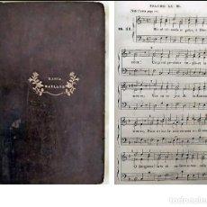 Libros antiguos: AÑO 1840: LOS SALMOS DE DAVID. LIBRO DE PARTITURAS DEL SIGLO XIX.. Lote 255555105