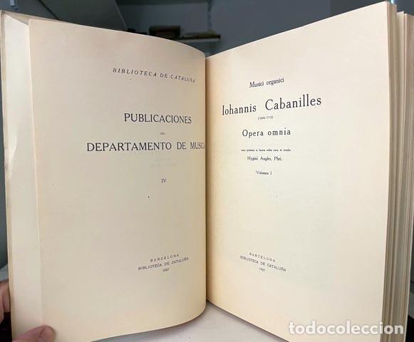JUAN B CABANILLES : MUSICI ORGANICI. OPERA OMNIA. (MÚSICA DE ÓRGANO) (Libros Antiguos, Raros y Curiosos - Bellas artes, ocio y coleccion - Música)